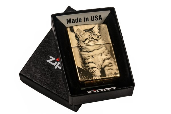 ZIPPO FEUERZEUG MESSING GOLD HIGHPOLISHED HOCHGLANZ